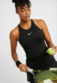 Nike Performance - DRY TANK - Sports shirt - black/white - 3