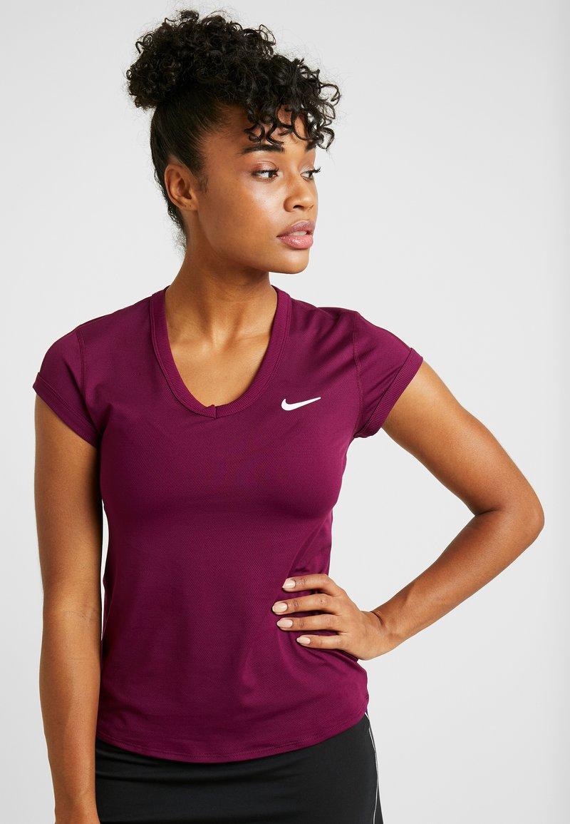 Nike Performance - DRY  - T-shirts - bordeaux/white