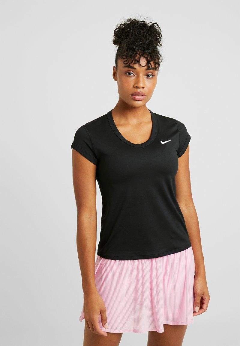 Nike Performance - DRY - Basic T-shirt - black/white