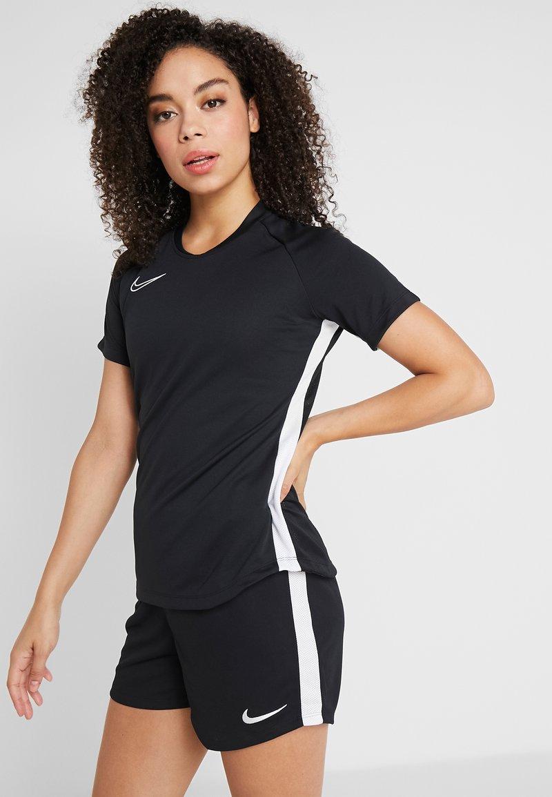 Nike Performance - DRY ACADEMY 19 - T-Shirt print - black/white