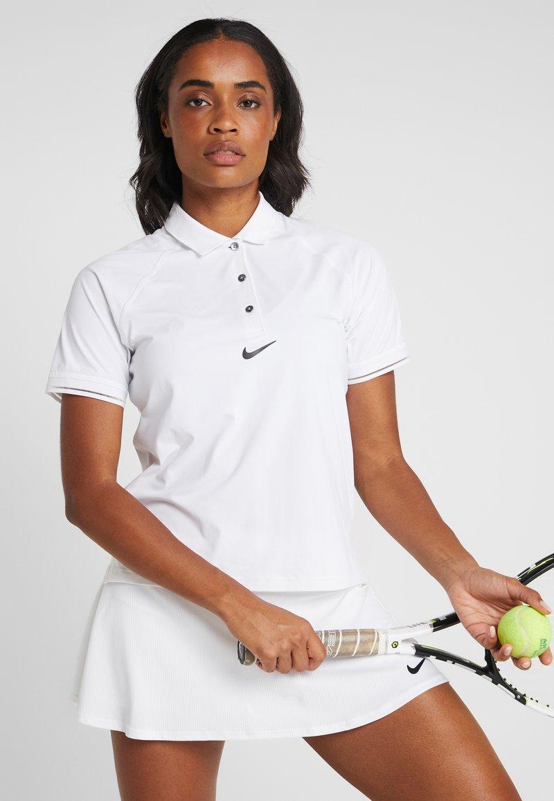 Nike Performance - ESSENTIAL  - Sports shirt - white/black