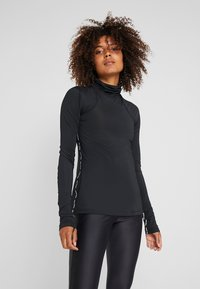 Nike Performance - Sports shirt - black/red bronze - 0