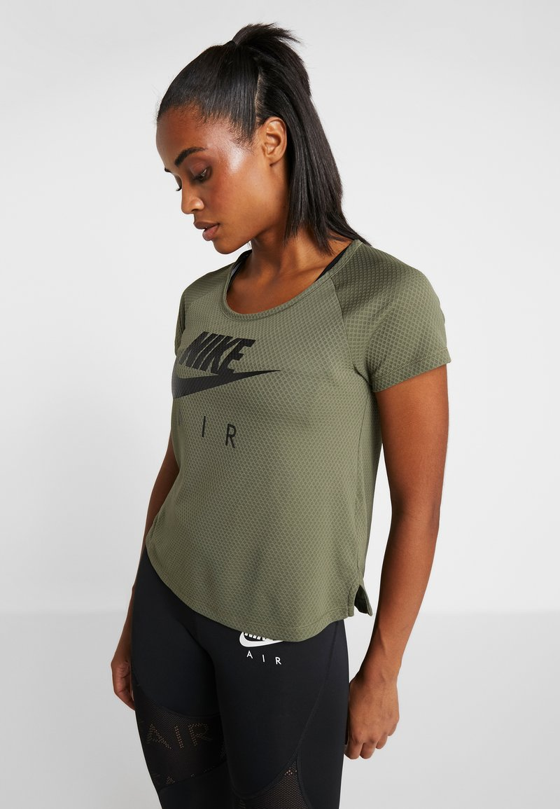 Nike Performance - AIR - T-shirts print - medium olive/black