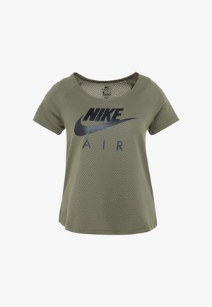 AIR - T-shirts med print - medium olive/black