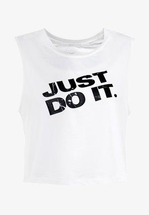 MARBLE CROP TANK - Camiseta de deporte - white/black