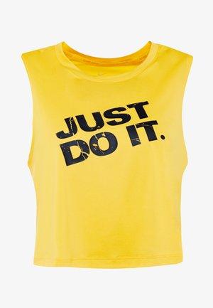MARBLE CROP TANK - T-shirt de sport - university gold/black