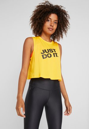 MARBLE CROP TANK - Sports shirt - university gold/black