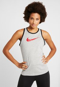 Nike Performance - DRY TANK GLAM DUNK - T-shirt sportiva - darkgrey heather/black - 0