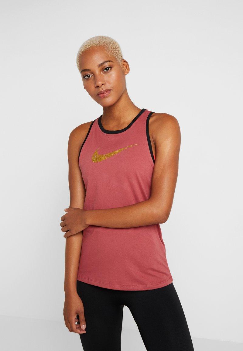 Nike Performance - DRY TANK GLAM DUNK - T-shirt sportiva - cedar/black/metallic gold