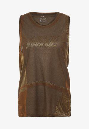 ICON TANK - T-shirt de sport - wheat/club gold/black