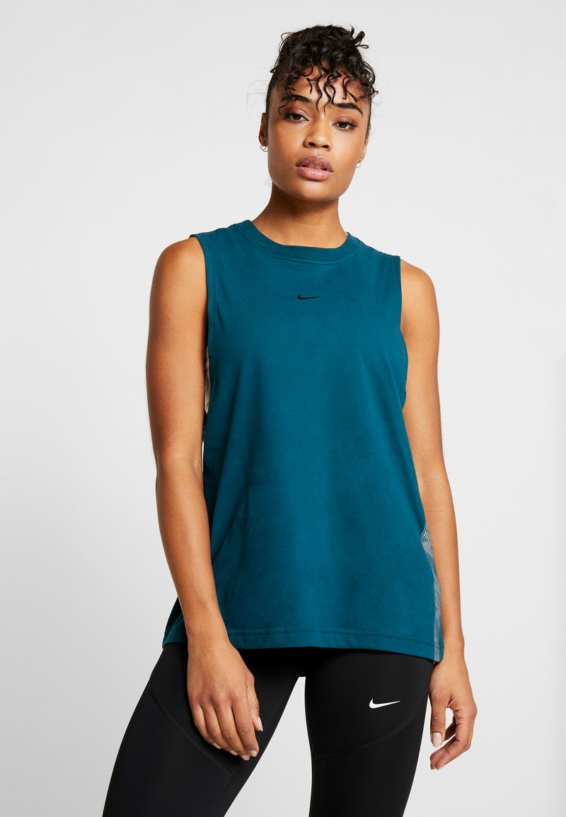 Nike Performance - DRY TANK - T-shirt sportiva - midnight turquoise