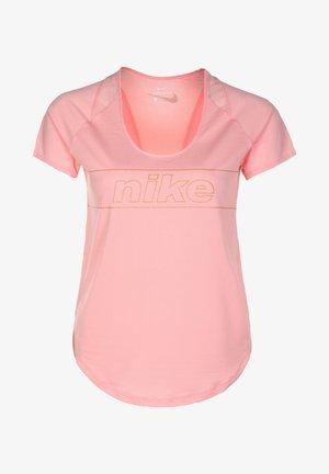 TOP GLAM - T-shirt z nadrukiem - bleached coral/metallic gold