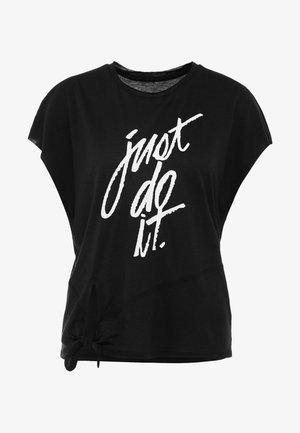DRY SIDE TIE  - Print T-shirt - black/white