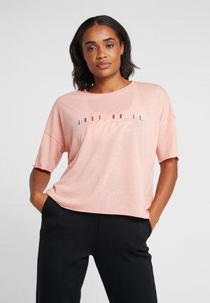 DRY - T-shirt z nadrukiem - pink quartz/black