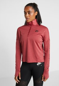 Nike Performance - TOP MIDLAYER AIR - Koszulka sportowa - cedar/black - 0
