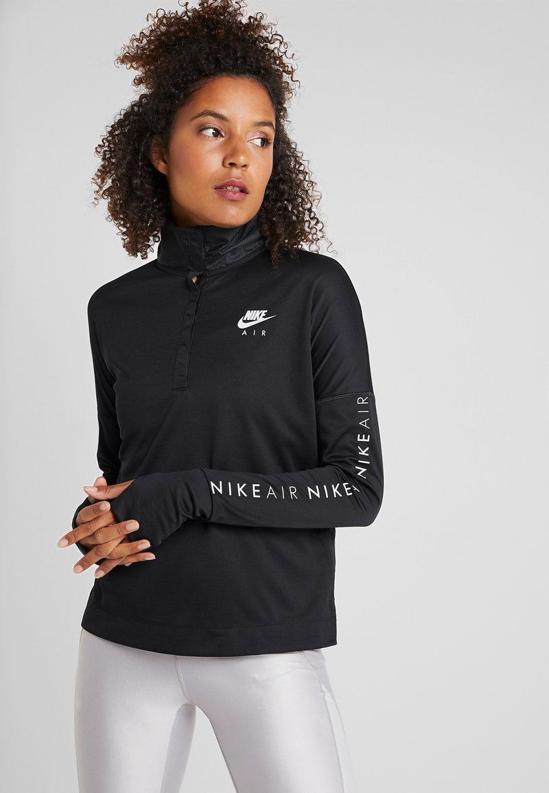 Nike Performance - TOP MIDLAYER AIR - Sports shirt - black/white
