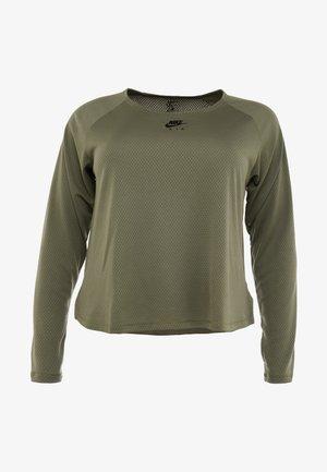 AIR PLUS - Sportshirt - medium olive/black