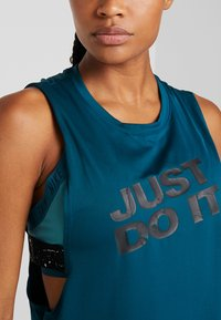 Nike Performance - MARBLE LOOSE TANK - Treningsskjorter - midnight turq/black - 4