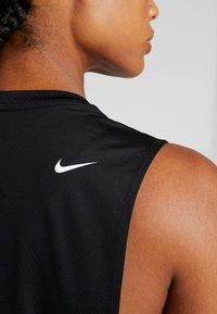 Nike Performance - MARBLE LOOSE TANK - Camiseta de deporte - black/white - 4