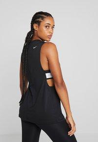 Nike Performance - MARBLE LOOSE TANK - Camiseta de deporte - black/white - 2