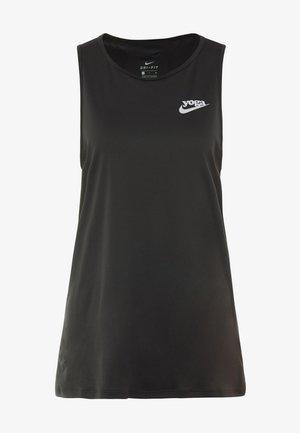 YOGA TANK KEYHOLE - Sportshirt - black/vast grey