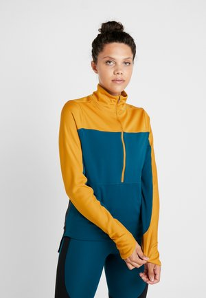 REPEL TOP MIDLAYER - Fleecová mikina - gold/midnight turquoise/reflective silver