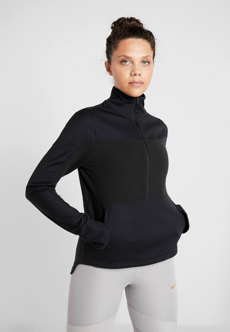 Nike Performance - REPEL TOP MIDLAYER - Bluza z polaru - black/silver