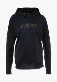 Nike Performance - MIDLAYER GLAM  - Hoodie - black/metallic gold - 5