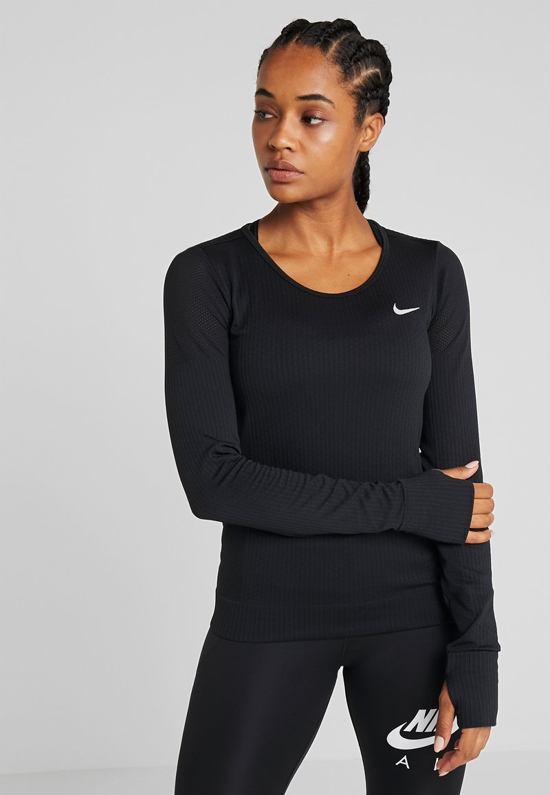 Nike Performance - INFINITE TOP  - Sportshirt - black/reflective silver