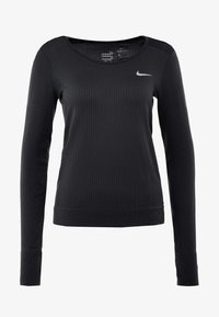 Nike Performance - INFINITE TOP  - Sports shirt - black/reflective silver - 5