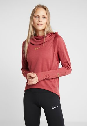 GLAM MIDLAYER - T-shirt sportiva - cedar/metallic gold