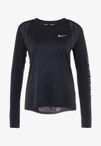 Nike Performance - DRY MILER  - T-shirt sportiva - black/metallic silver - 6