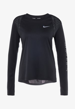 DRY MILER  - Sports shirt - black/metallic silver