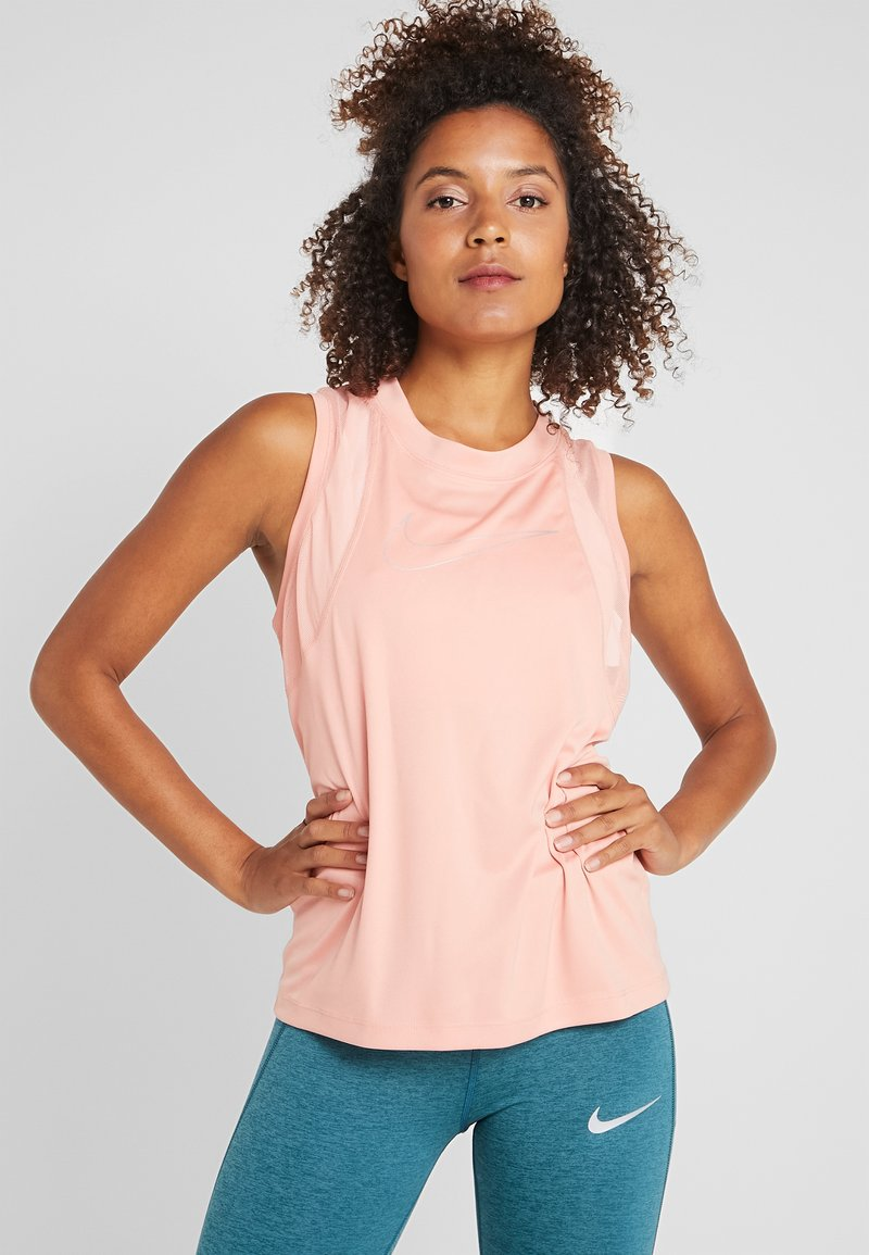 Nike Performance - DRY MILER TANK - Sports shirt - pink quartz/metallic silver