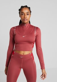 Nike Performance - HYPERWARM - Sports shirt - cedar/metallic silver - 0