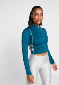 Nike Performance - HYPERWARM - Funkční triko - midnight turquoise/metallic silver - 0
