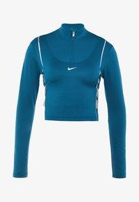 Nike Performance - HYPERWARM - Funkční triko - midnight turquoise/metallic silver - 5