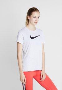 Nike Performance - DRY TEE CREW - Print T-shirt - white/black - 0