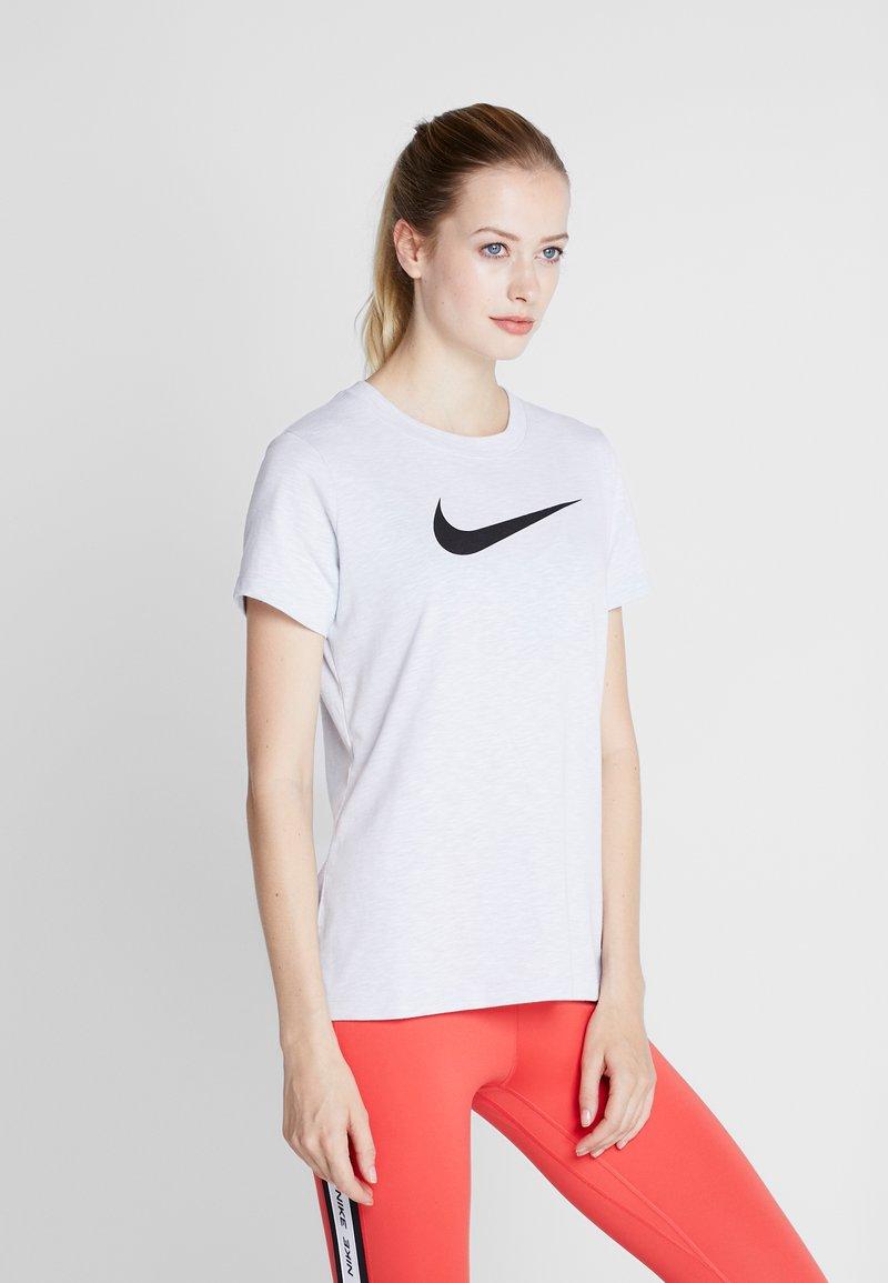 Nike Performance - DRY TEE CREW - Print T-shirt - white/black