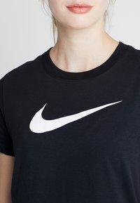 Nike Performance - DRY TEE CREW - Print T-shirt - black/white - 4