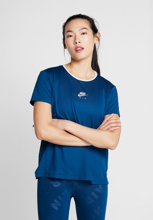 AIR TOP - Camiseta estampada - valerian blue/reflective silver