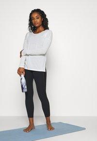 Nike Performance - YOGA LAYER  - Sports shirt - summit white/platinum tint - 1