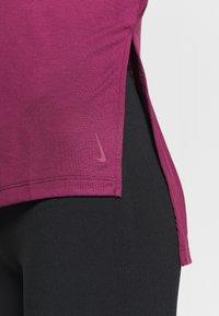 Nike Performance - YOGA LAYER  - Sports shirt - villain red/shadowberry - 5