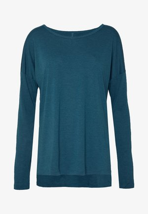 YOGA LAYER TOP - Funktionströja - valerian blue/heather/industrial blue