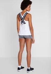 Nike Performance - DRY ELASTIKA TANK - Sports shirt - white/black - 2