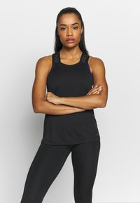 Nike Performance - DRY ELASTIKA TANK - T-shirt sportiva - black/thunder grey - 0