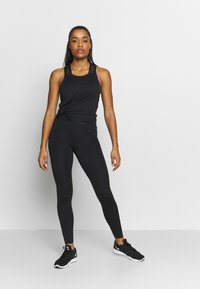 Nike Performance - DRY ELASTIKA TANK - T-shirt sportiva - black/thunder grey - 1