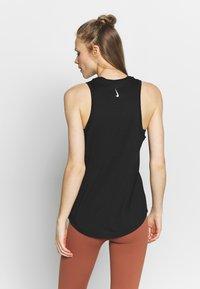 Nike Performance - DRY TANK YOGA - Sports shirt - black/dark smoke grey - 2