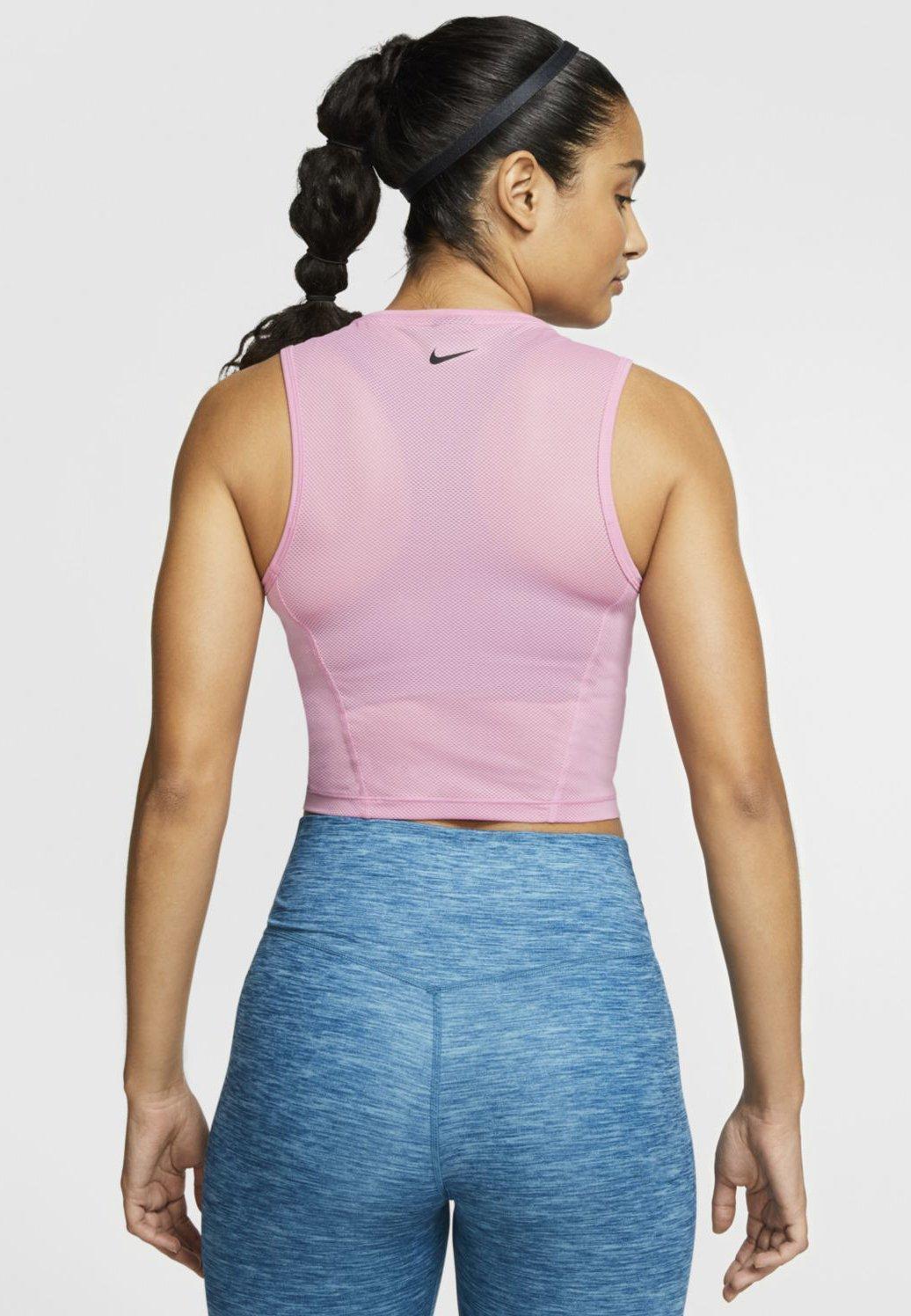 Nike Performance CROP TANK - Koszulka sportowa - magic flamingo/black