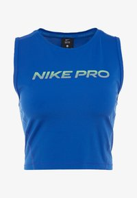 Nike Performance - CROP TANK - Tekninen urheilupaita - game royal/black - 4
